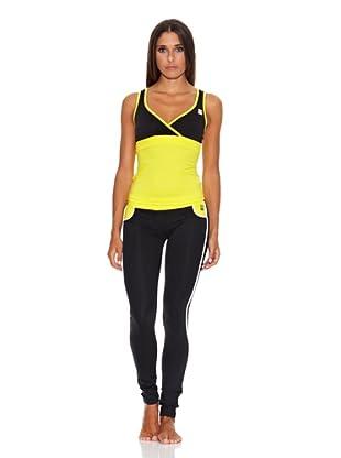 Adriana Arango Conjunto de Camiseta y Leggingg (Amarillo)