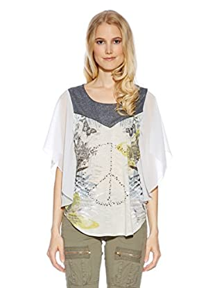 Cream Blusa Jungle Blouse (Gris Claro / Denim)