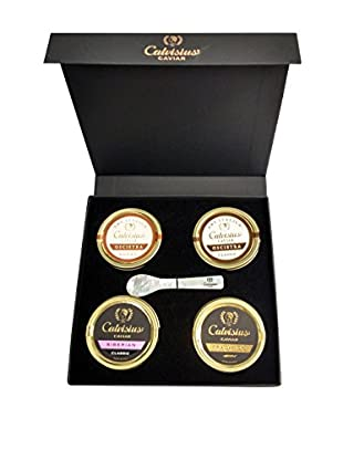 Calvisius Caviar Set of 4 30-Gram Tins in Gift Box
