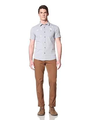 Zanerobe Men's Dusk Short Sleeve Woven Shirt (Light Blue)
