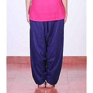 Navy blue cotton, salwar