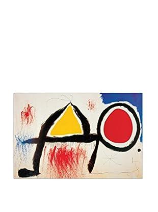 Artopweb Wandbild Mirò Personagge Devan Le Soleil 60x90 cm mehrfarbig