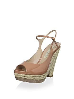 Pura López Women's Ankle Strap Espadrille Wedge (Vernice 875)