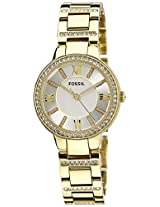 Fossil Virginia Analog Silver Dial Women's Watch - ES3283I