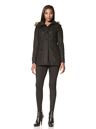 Calvin Klein Women's Wool Jacket with Toggle Closure (Black)
