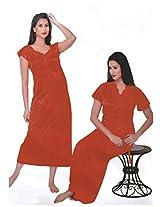 Indiatrendzs Women's Sexy Hot Nighty Hot Red 2pc Set Lingerie Nightwear