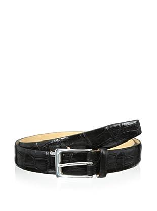 Trafalgar Men's Two-Tone Belt (Black)
