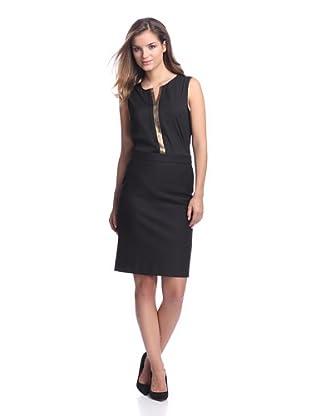 Calvin Klein Women's Top with Metallic Trim (Black)