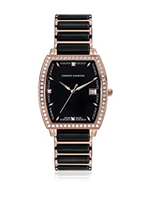Chrono Diamond Reloj con movimiento cuarzo suizo Woman 10310F Leandra Negro 32.0 mm