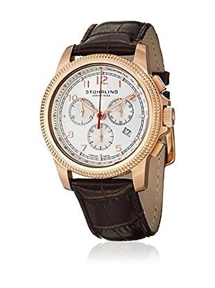 Stührling Uhr mit Schweizer Quarzuhrwerk Targa Courant braun 43 mm