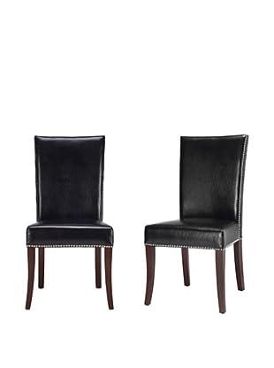 Safavieh Set of 2 Brewster Side Chairs, Black