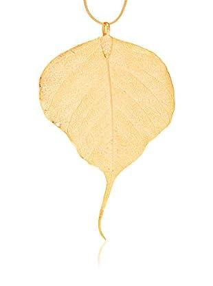 ANA Natural Leaves Anhänger Bodhibaum Blatt vergoldet