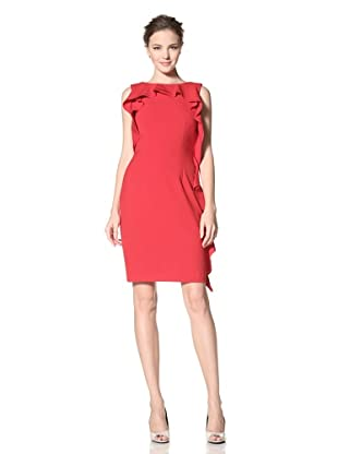 Calvin Klein Women's Sleeveless Dress with Ruffle Detail (Red)