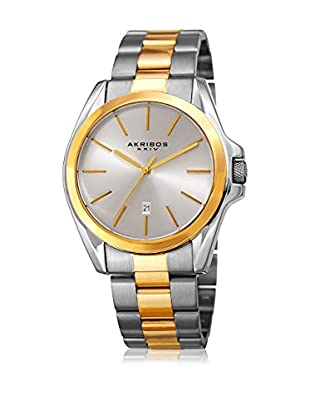 Akribos XXIV Uhr mit japanischem Quarzuhrwerk Unisex silberfarben/goldfarben 43 mm