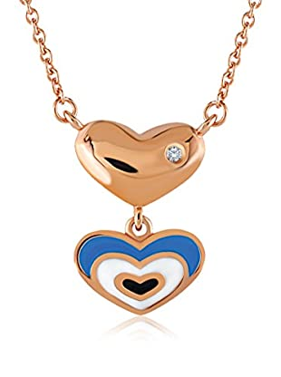 Divas Diamond Collar Diamante Heart Good Luck Eye Dorado