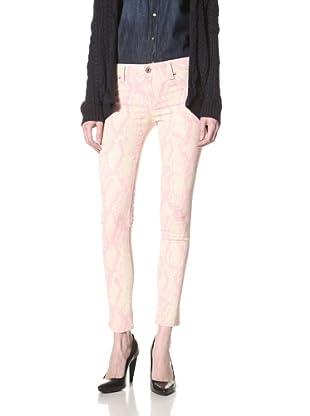 DL 1961 Women's Emma Snakeskin Legging (Pink Boa)