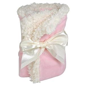 Stephan Baby Ultra Soft Plush/Sherpa Pink Blankie