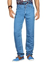 Dfu Men's Denim Slim Fit Jeans -Light Blue, (38)