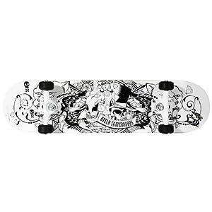 Oxelo Mid-Tattoo Skateboard (White)
