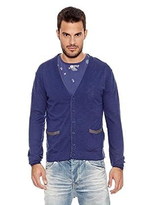 Pepe Jeans London Chaqueta Punto Ribble (Azul Oscuro)