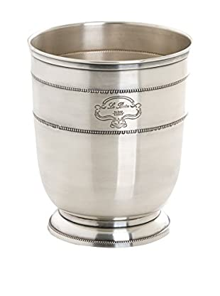 Shiraleah Le Bain Waste Basket, Antique Silver