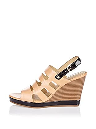 Geox Keil Sandalette D Sibilla Sand B