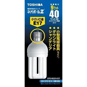 【クリックでお店のこの商品のページへ】東芝 ネオボールZ ミニクリプトン電球40ワットタイプ 3波長形昼光色 EFD10ED/9-E17