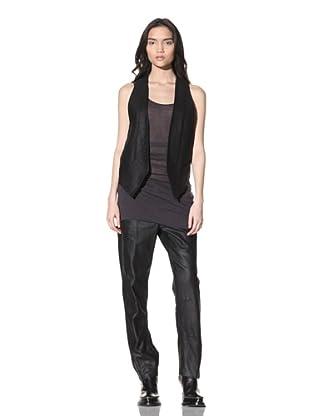 Ann Demeulemeester Women's Leather Vest (Black)