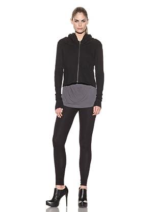 Improvd Women's Long Sleeve Hooded Sweatshirt (Black)