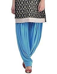 Sohniye Women's Viscose Patiala [GAKP00_Blue_Free Size]