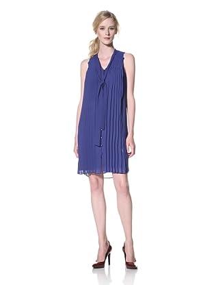Chetta B Women's Sleeveless Pleated Chiffon Dress (Royal)