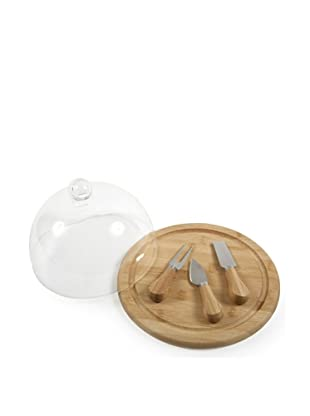 Core Bamboo Presentation Cheese Set with Glass Dome