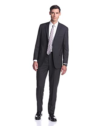 Hickey Freeman Men's Solid Suit (Charcoal)