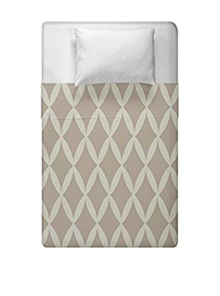e by design Geometric Duvet Cover (Taupe)