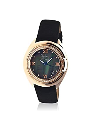Sophie and Freda Women's SF1006 Belize Black/Black/Rose Leather Watch