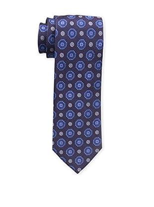 Bruno Piattelli Men's Medallion Silk Tie, Purple