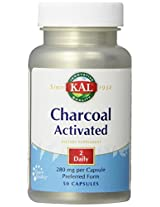 KAL Charcoal Tablets, 280 mg, 50 Count