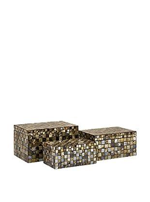 Set of 3 Noida Mosaic Boxes