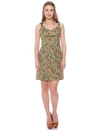 Divina Providencia Vestido Floral (Caqui)