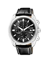 Citizen Super Titanium CA0021-02E Black Chronograph Watch - For Men