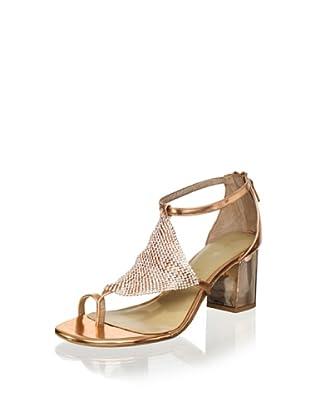 Lola Cruz Women's Mid Heel Sandal (Cobre)