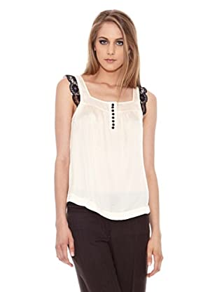 Pepe Jeans London Blusa Rodas (Blanco)
