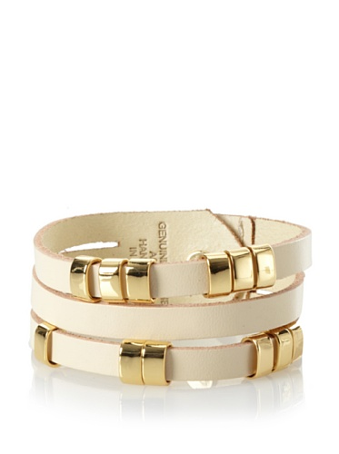 Linea Pelle Sliced Cuff with Sliders, Sand