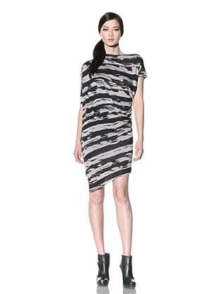 Improvd Women's Draped Jersey Dress (Black/Smoke)