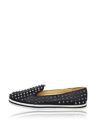 Buffalo London 512-0529 LEATHER 139767 - Zapatos casual de cuero  mujer (Negro)