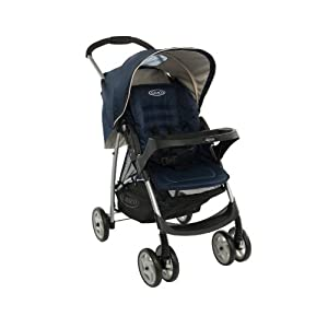 Graco Mirage Solo Stroller, Peacoat (Blue)