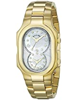 Philip Stein Unisex 2GP-NGDMOP-SSGP Signature Gold-Tone Stainless Steel Watch with Triple-Link Bracelet