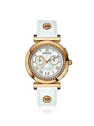 Versace Women's VA9030013 Vanity Chronograph White Leather Watch