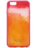 Laura Trevey Translucent Case for iPhone 6 - Retail Packaging - Ombre Pink/Orange