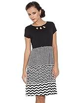 109F Ladies Round Neck Polyester DRESS 8907019466020